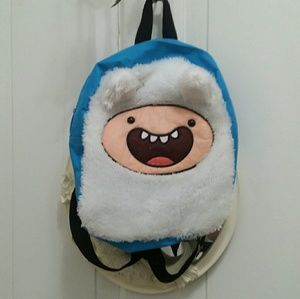 Adventure Time ☆ Fin Blue Furry Backpack